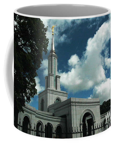 California Coffee Mug featuring the photograph Mormon Temple Folsom Ca by Norman Andrus