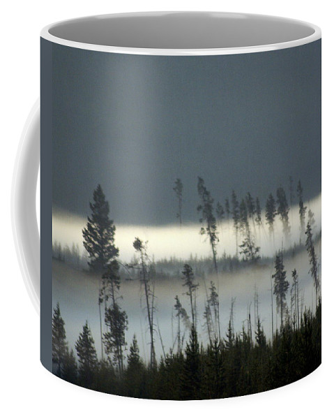 Yellowstone National Park Coffee Mug featuring the photograph Morning Along The Madison by Marty Koch