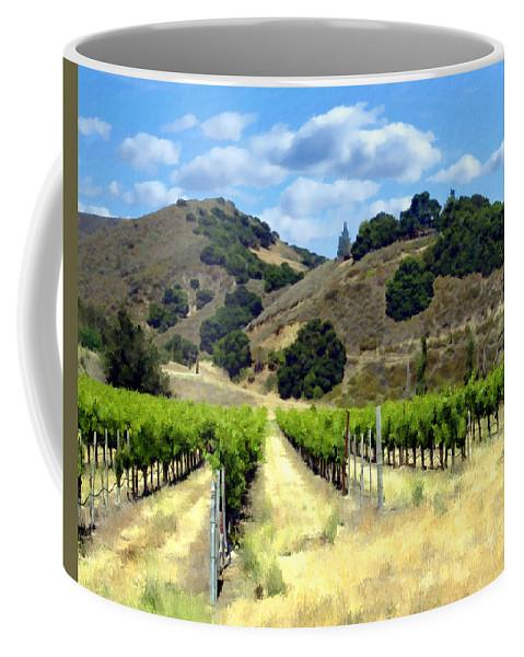 Vineyards Coffee Mug featuring the photograph Morning At Mosby Vineyards by Kurt Van Wagner