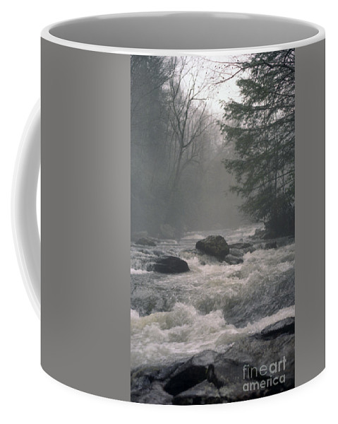 Rivers Coffee Mug featuring the photograph Morning At The River by Richard Rizzo