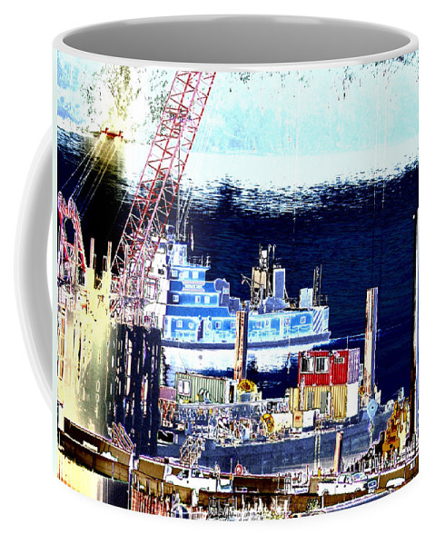 Abstract Coffee Mug featuring the photograph Morning Blooms by Rachel Christine Nowicki