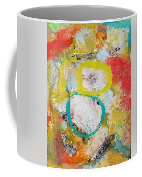 Abstract Coffee Mug featuring the painting Morning Calm by Patricia Byron