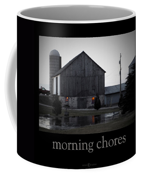 Poster Coffee Mug featuring the photograph Morning Chores by Tim Nyberg
