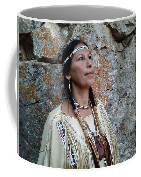 Maiden Indian Braids Beads Medicine Bag Rocks Coffee Mug featuring the photograph Morning Dove by Cindy New