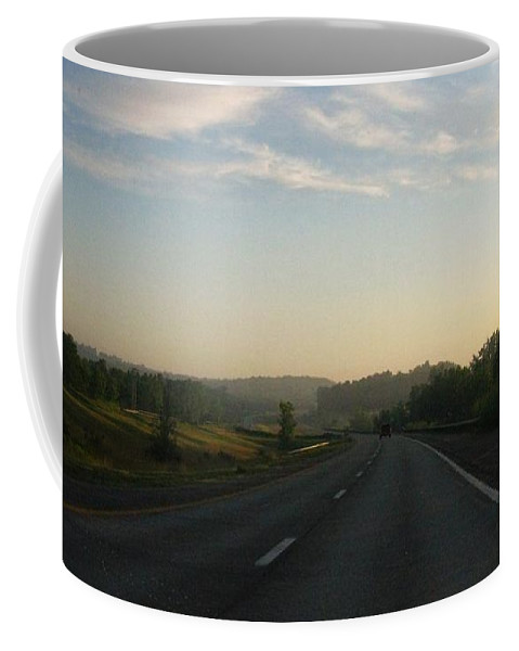 Landscape Coffee Mug featuring the photograph Morning Drive by Rhonda Barrett