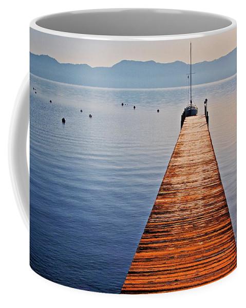 Nature Coffee Mug featuring the photograph Morning Frost, Lake Tahoe, California by Zayne Diamond Photographic
