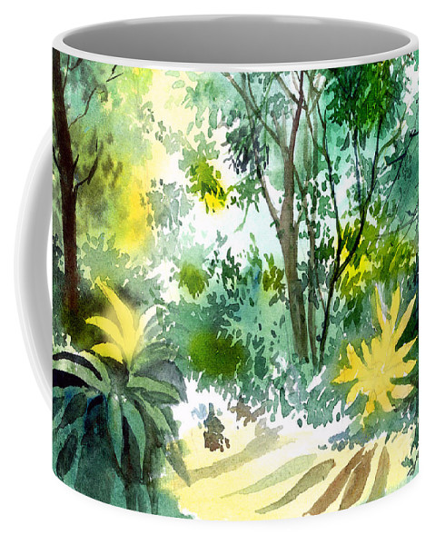 Landscape Coffee Mug featuring the painting Morning Glory by Anil Nene