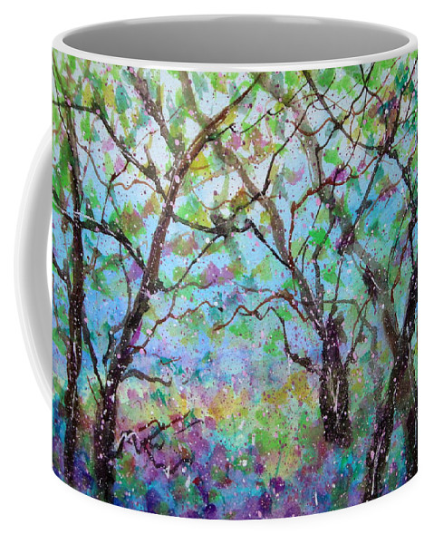 Nature Coffee Mug featuring the painting Morning Glory by Natalie Holland