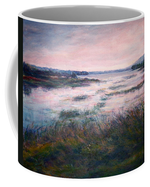 Water Coffee Mug featuring the painting Morning Glow by Quin Sweetman