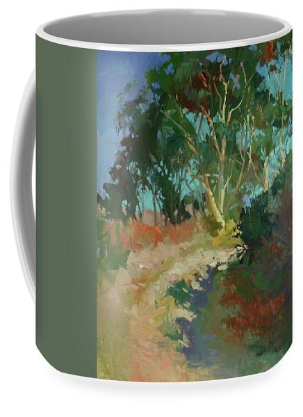 Catalina Island Coffee Mug featuring the painting Morning Has Broken - Plein Air Catalina Island by Betty Jean Billups