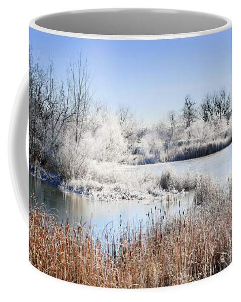 Hoar Frost Coffee Mug featuring the photograph Morning Hoar Frost by Marilyn Hunt