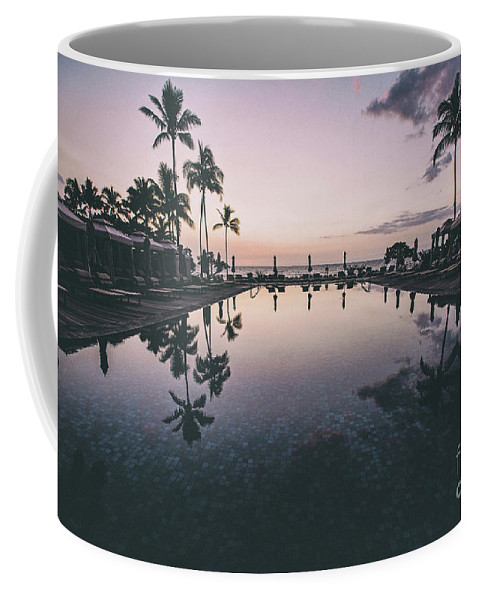 Pool Coffee Mug featuring the photograph Morning In Paradise by Scott Pellegrin