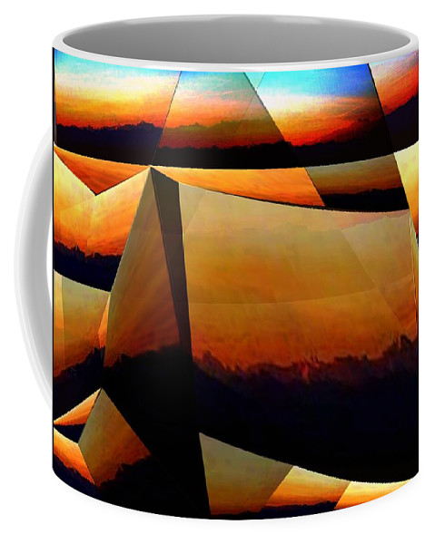 Alpen Coffee Mug featuring the mixed media Morning In The Alps by Helmut Rottler