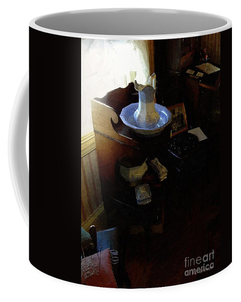 Antiques Coffee Mug featuring the painting Morning In The Study by RC DeWinter