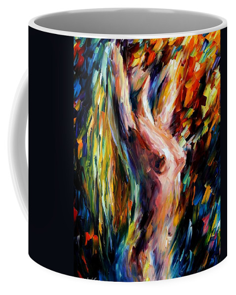 Nude Coffee Mug featuring the painting Morning by Leonid Afremov