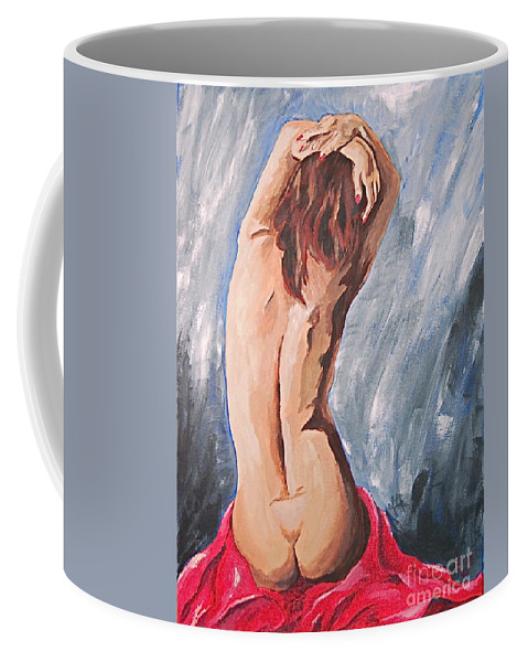 Nude Coffee Mug featuring the painting Morning Light 2 by Herschel Fall
