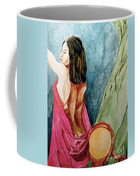 Nudes Women Coffee Mug featuring the painting Morning Light by Herschel Fall