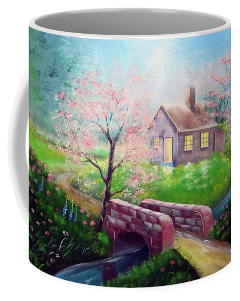 Coffee Mug featuring the painting Morning Light by Joey Victorino