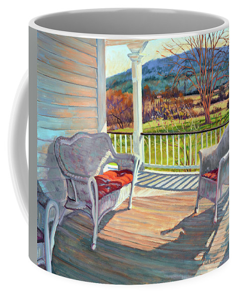 Impressionism Coffee Mug featuring the painting Morning Light by Keith Burgess