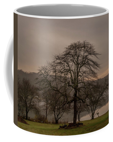 Morning Coffee Mug featuring the photograph Morning Mist by Jon DeAngelo