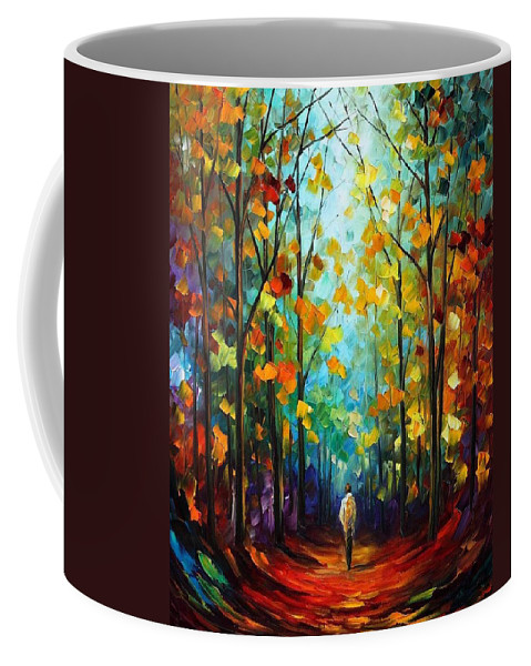 Afremov Coffee Mug featuring the painting Morning Mood by Leonid Afremov
