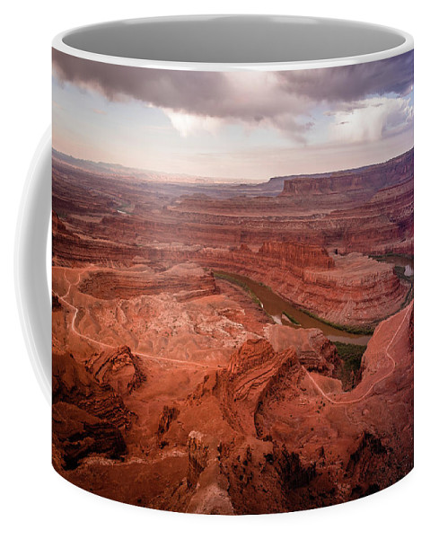 Dead Coffee Mug featuring the photograph Morning On Dead Horse Point by Greg Efner