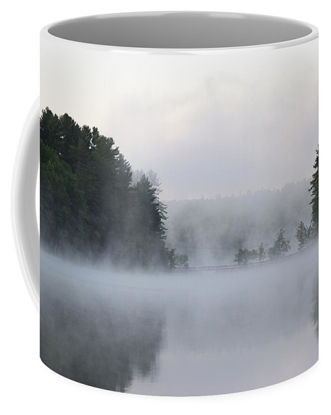 Water Coffee Mug featuring the photograph Morning On Sand Pond by Jan Mulherin