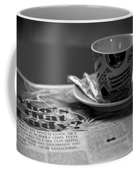 Blur Coffee Mug featuring the photograph Morning Read by Evelina Kremsdorf
