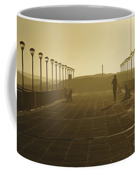 Woman Coffee Mug featuring the photograph Morning Run by Brian Kamprath