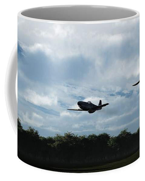 Aircraft Coffee Mug featuring the digital art Morning Run by Richard Rizzo