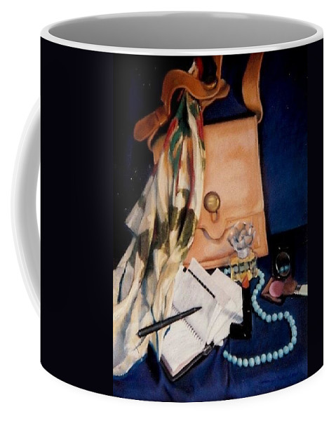 Blue Coffee Mug featuring the pastel Morning Rush by Constance Drescher