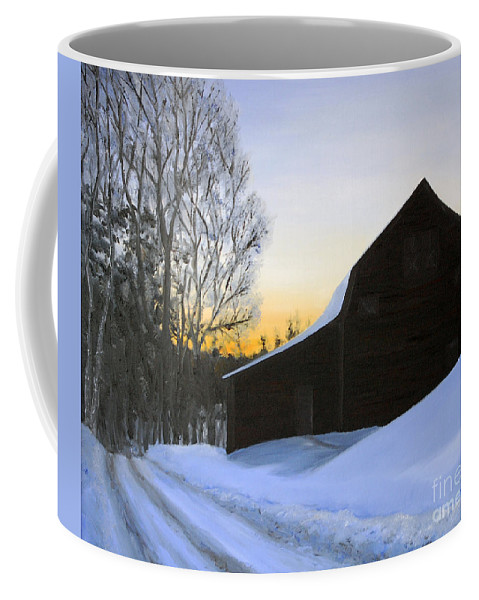 Sunrise Coffee Mug featuring the painting Morning Solitude by Mary Tuomi