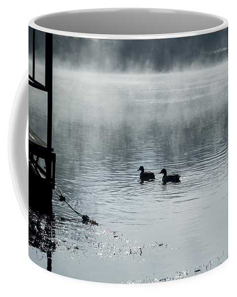 Duck Coffee Mug featuring the photograph Morning Stroll by Annette Persinger