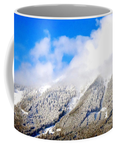 In The Morrning Coffee Mug featuring the photograph Morning View #1 by HelenaP Art