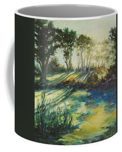Sunrise Coffee Mug featuring the painting Morning Walk by Rick Nederlof