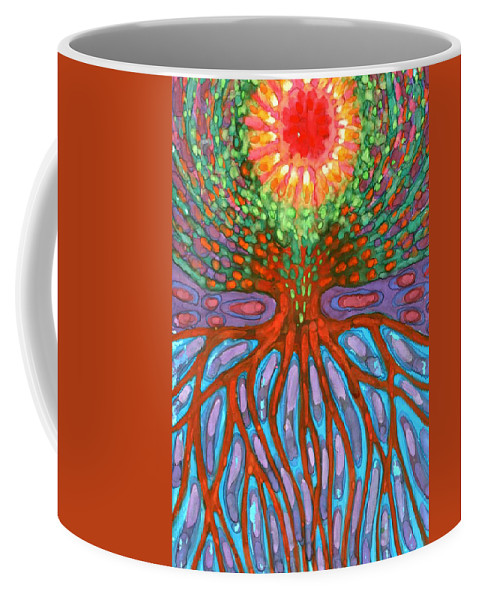 Colour Coffee Mug featuring the painting Morning by Wojtek Kowalski