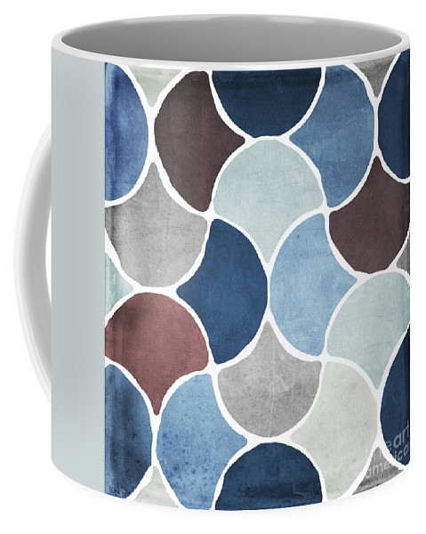 Pattern Coffee Mug featuring the painting Moroccan Blues by Mindy Sommers