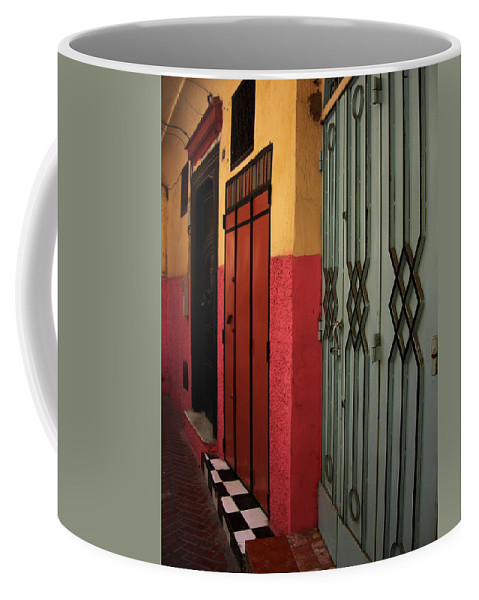 Morocco Coffee Mug featuring the photograph Moroccan Doors Ll by Fay Lawrence