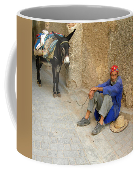 Morocco Coffee Mug featuring the photograph Moroccan Taxi by Fay Lawrence