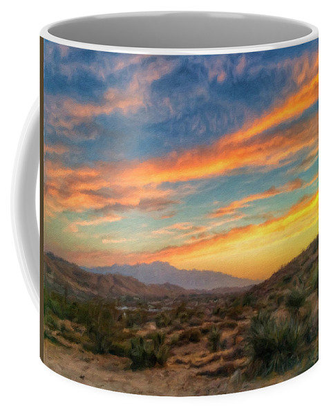 Desert Coffee Mug featuring the photograph Morongo Valley Sunset by Snake Jagger