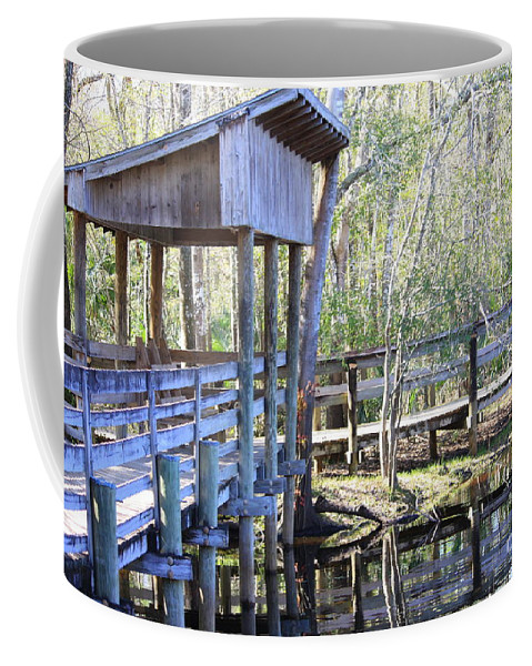 Morris Bridge Coffee Mug featuring the photograph Morris Bridge by Carol Groenen