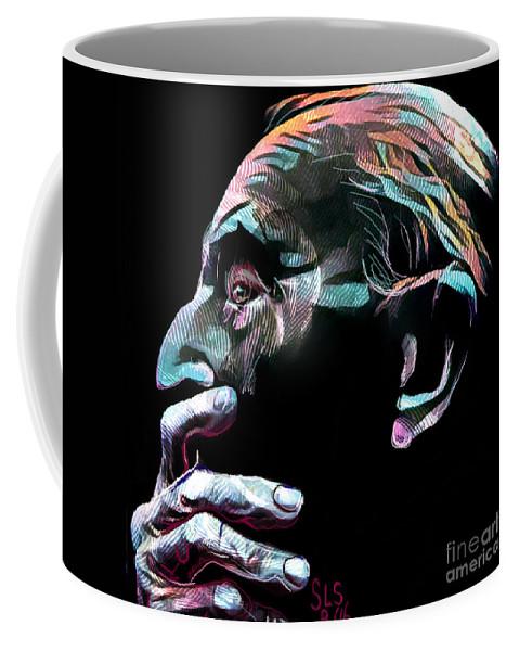 Ponderer Coffee Mug featuring the digital art Mortal Contemplation by Scott Smith