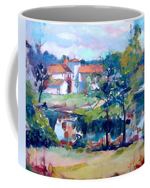 Mortemart Coffee Mug featuring the painting Mortemart 87 by Kim PARDON