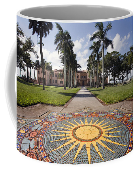 Mosaic Coffee Mug featuring the photograph Mosaic At The Ca D by Mal Bray