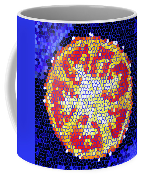 Tomato Coffee Mug featuring the photograph Mosaic Tomato by Nancy Mueller