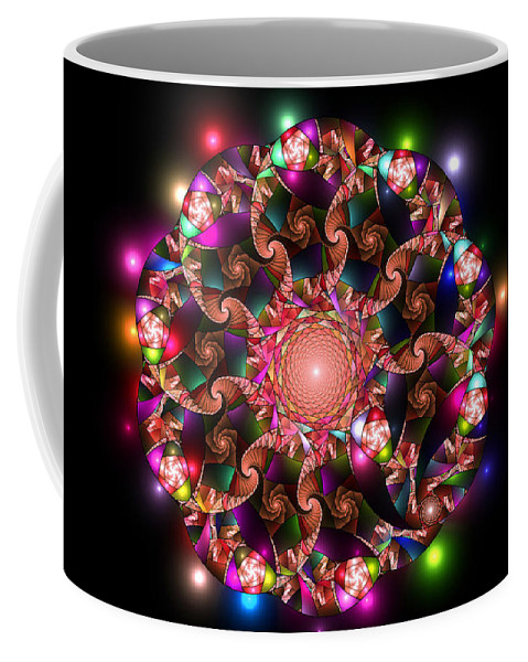 Elena Riim Coffee Mug featuring the digital art Mosaica by Elena Riim