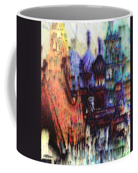 Fog Coffee Mug featuring the digital art Moscow in the Rain by Seth Weaver