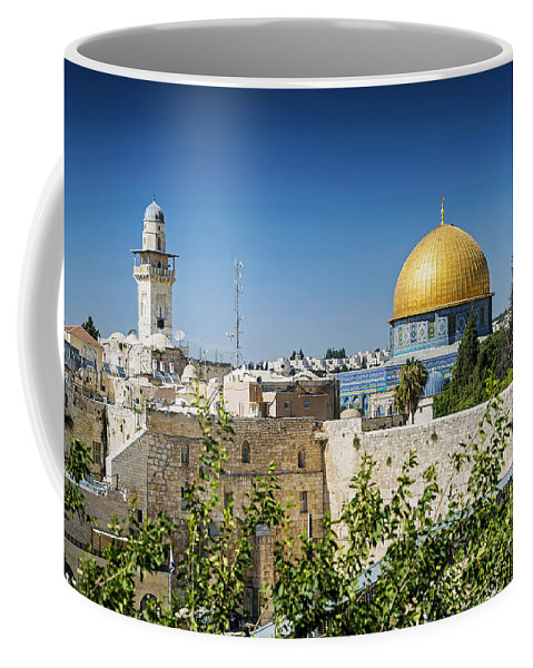 Ancient Coffee Mug featuring the photograph Mosques In Old Town Of Jerusalem Israel by Jacek Malipan