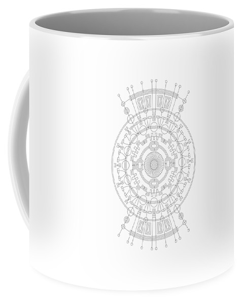Relief Coffee Mug featuring the digital art Mother by DB Artist