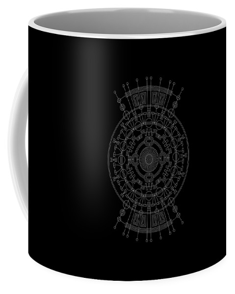Relief Coffee Mug featuring the digital art Mother Inverse by DB Artist